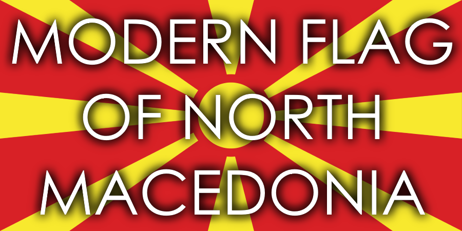Modern Flag of North Macedonia